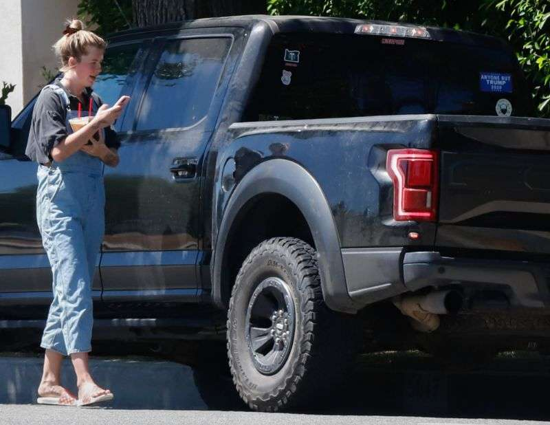 Ireland Baldwin Stops for iced coffee in Los Angeles