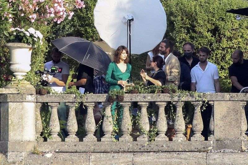 Monica Bellucci On the set for the D&G advertising campaign in Lake Como