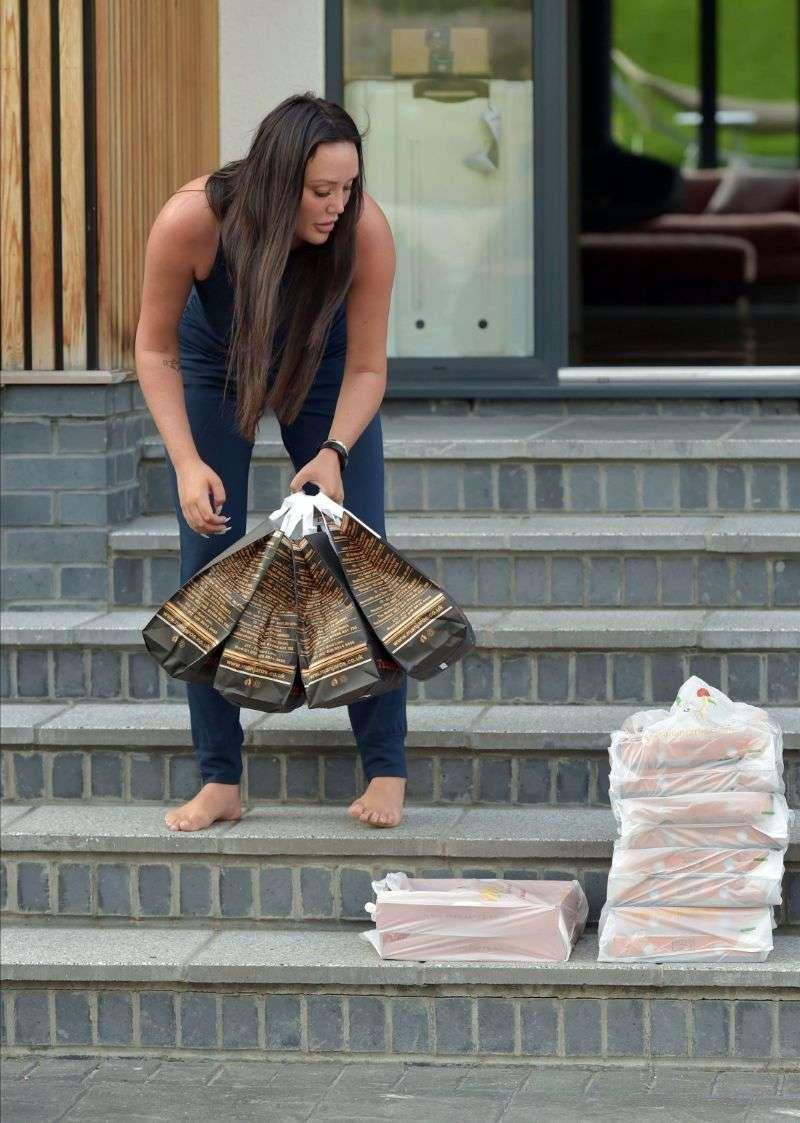 Charlotte Crosby Orders Huge TakeAway Order whilst in Isolation in Durham after returning from her Holidays in Ibiza