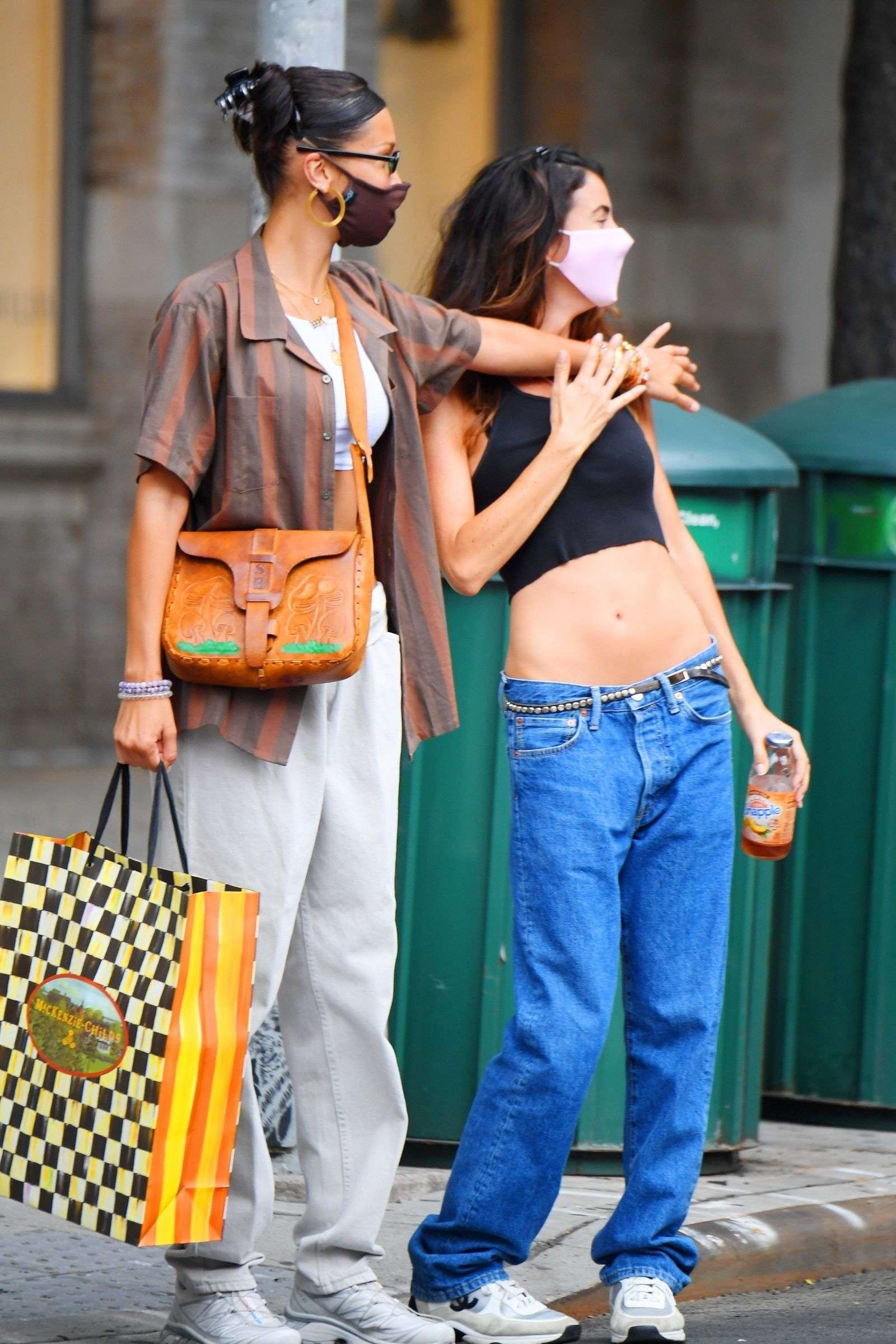 Bella Hadid enjoys a shopping trip in the big apple with a friend in New York