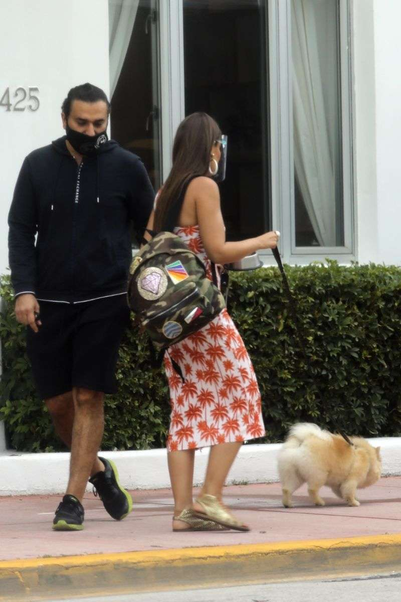 Vanessa Claudio Latest Photos with her Pomeranian pup from The Savoy Hotel in Miami Beach