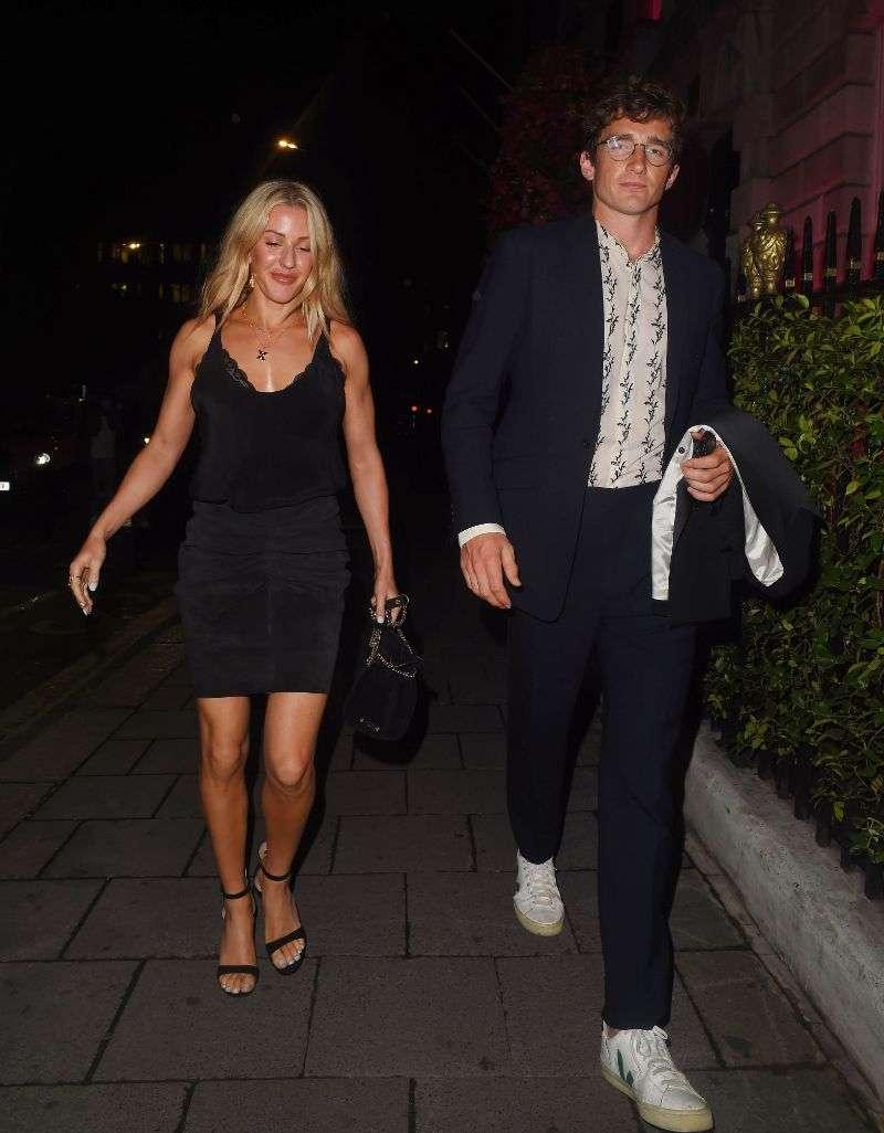 Ellie Goulding Enjoys a pro lockdown date night at Annabels Private Members Club in Mayfair