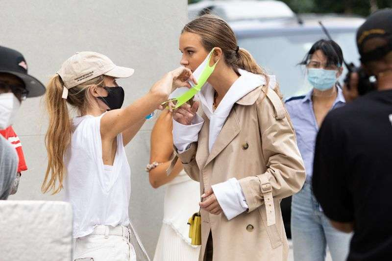 Josephine Skriver Films Maybelline Commercial in NYC Covid Times