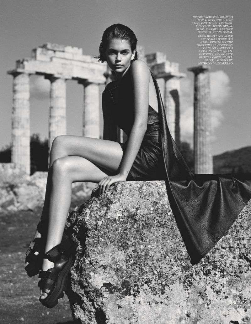 Kaia Gerber Hot PhotoShoot For Vogue (UK) 2020 HD