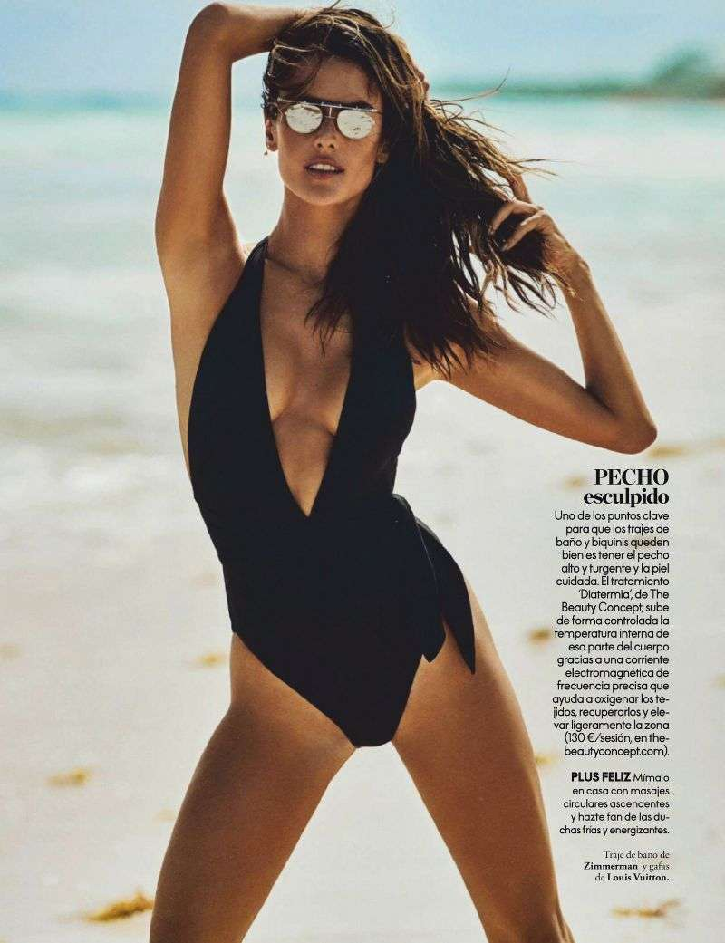 Alessandra Ambrosio Hot Swimsuit Photo Shoot For Elle (Spain) 2020 HD