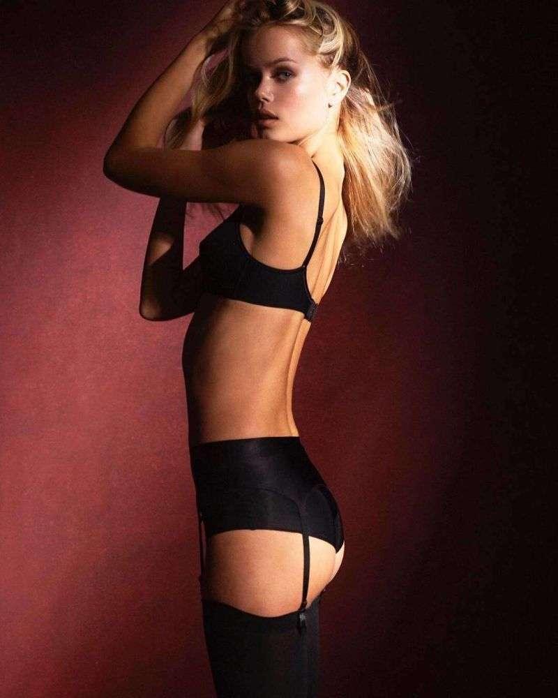 Frida Aasen Hot PhotoShoot In BLack Dress For David Lipman 2020 HD