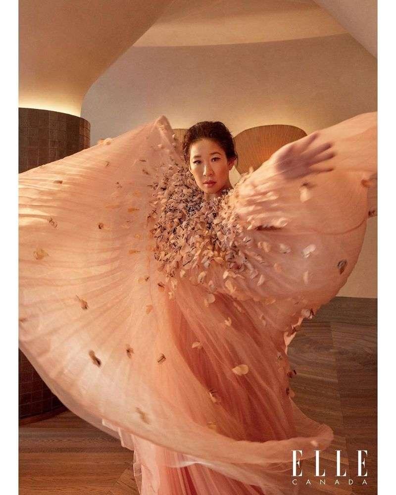 Sandra Oh Hor PhotoSHoot Elle Canada 2020 HD