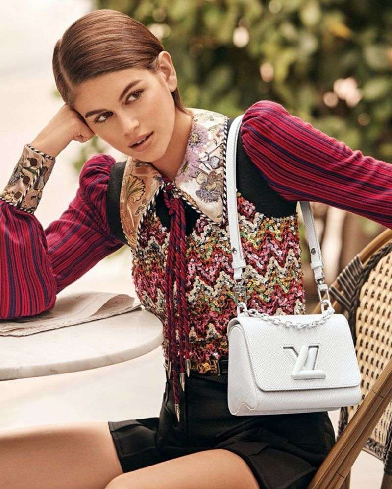 Kaia Gerber PhotoShoot Gallery for Louis Vuitton posing 2020 HD
