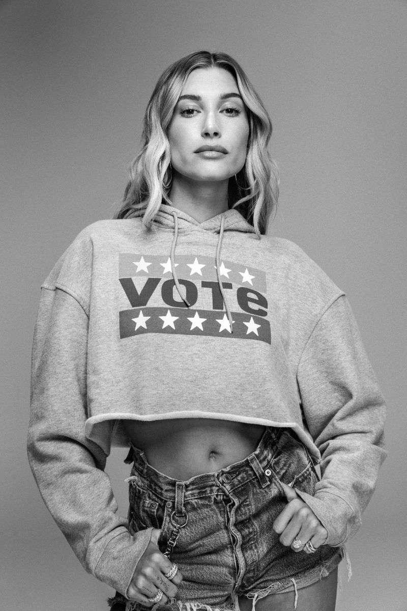 Hailey Bieber - co-stars in Levi's 2020 Vote Campaign HD