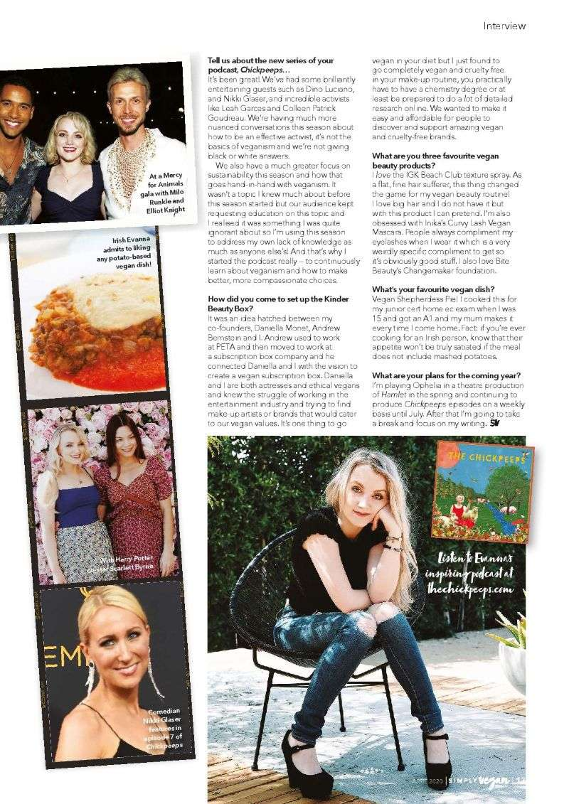 Evanna Lynch Hot PhotoShoot pics For Simply Vegan Magazine 2020 HD