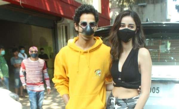 Ishaan Khattar & Ananya Pandey khaali peeli Movie Promotion Stills at andheri HD