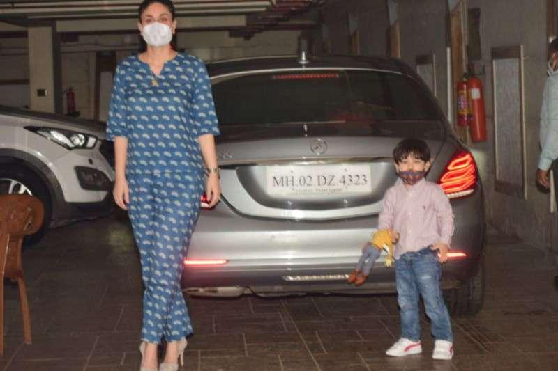 Kareena Kapoor & Taimur spotted at bandra HD Hhotos