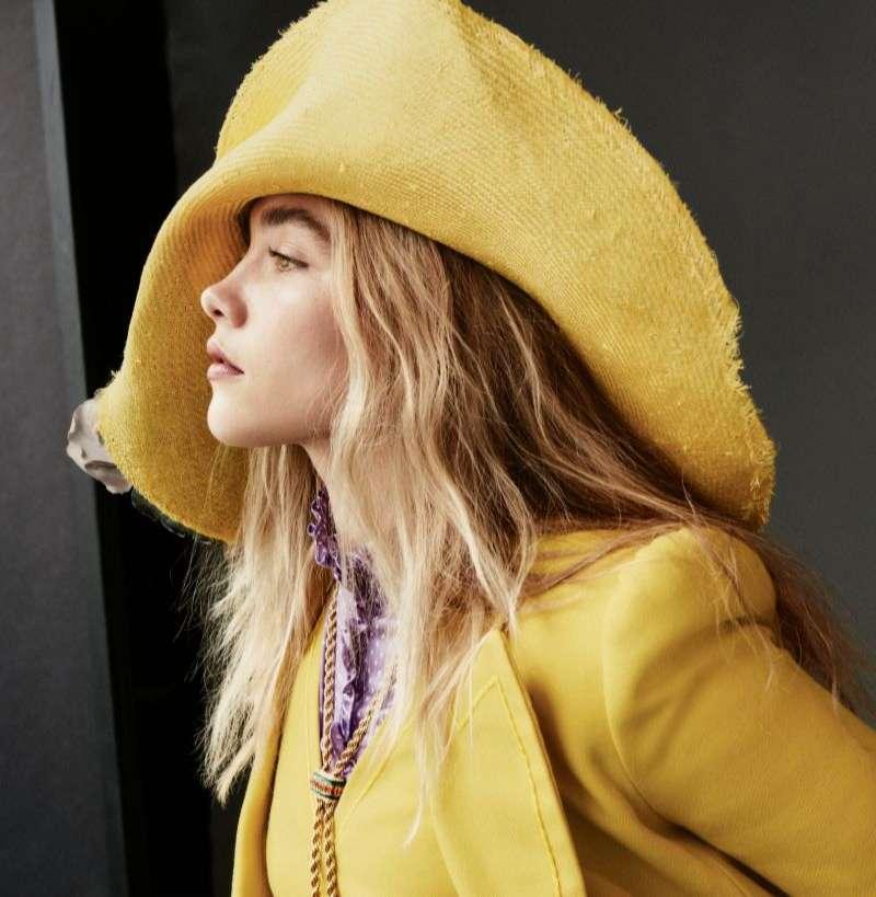 Florence Pugh Cute PhotoShoot Stills For Vogue Magazine US 2020 HD