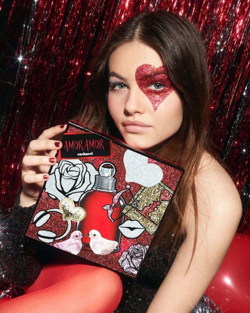 Thylane Blondeau Hot Stills new Holiday 2019 campaign for the fragrance Amor Amor