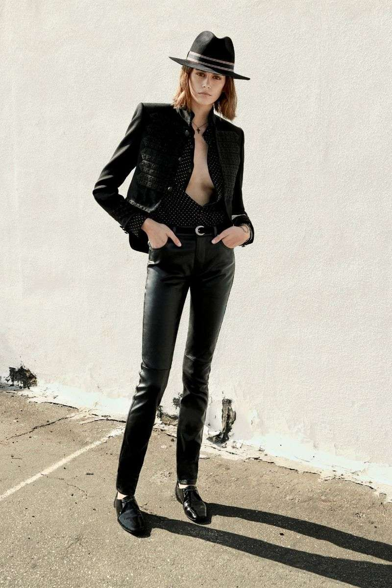 Kaia Gerber Hot Photo poses for Saint Laurent's Cruise 2020 HD