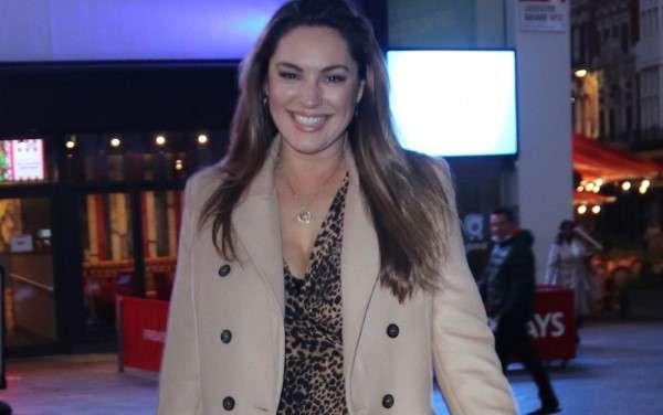Kelly Brook Seen leaving global studios in a happy mood in London HD