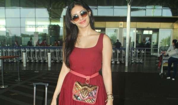 Aparshakti Khurana & Amyra Dastur Latest Hot Photos in Red at airport