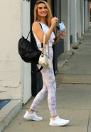 Chrishell Stause Hot Pics In White Dress at the DWTS studio in Los Angeles
