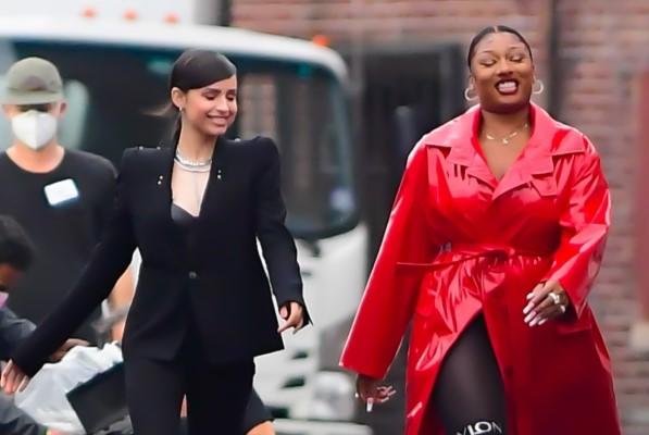 Megan Thee Stallion & Sofia Carson Beautiful Photos at shooting for Revlon in New York