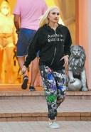 Gwen Stefani Hot Photos At studio in Woodland Hills wearing an Anaheim Hillbillies hoodie
