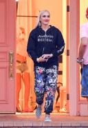 Gwen Stefani Hot Photos At studio in Woodland Hills wearing an Anaheim Hilbilies hoodie 3