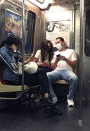 Katie Holmes And Emilio Vitolo Jr Latest Photos while riding the Downtown Subway train in Manhattan 3