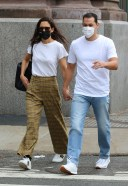 Katie Holmes And Emilio Vitolo Jr Latest Photos while riding the Downtown Subway train in Manhattan