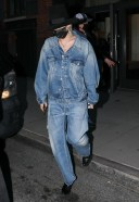 Miley Cyrus Hot Pics in New York rocking a double denim look HD
