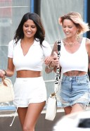 Tina Louise Hot Photos with her friend CJ Franco at Pura Vida in West Hollywood