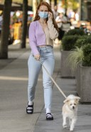 Madelaine Petsch Hot And Cute Photos With her dog in Vancouver 13