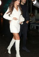 Michelle Keegan Hot in white At Corinthia Hotel in London 2nd October 2020 3
