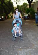 Gabriela With Her Son Cute Photos At Bandra HD Photos