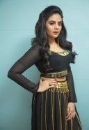 Sreemukhi Hot Photos Shoot Pics In Black Dress HD