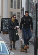 Pretty Kelly Brook And her long time partner Jeremy Parisi take their 5 month old puppy to Dog Cafe in Hampstead 13