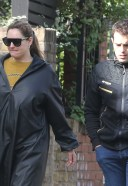 Pretty Kelly Brook And her long time partner Jeremy Parisi take their 5 month old puppy to Dog Cafe in Hampstead 23