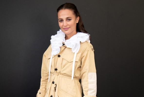 Alicia Vikander Louis Vuitton Womenswear Spring Summer 2021 show as part of Paris Fashion Week in Paris