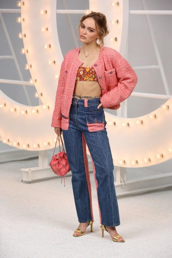 Lily Rose Depp Chanel Photocall Paris Fashion Week Womenswear Spring Summer