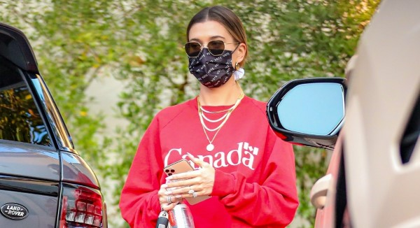 Hailey Bieber seen making an afternoon visit to a salon in West Hollywood California