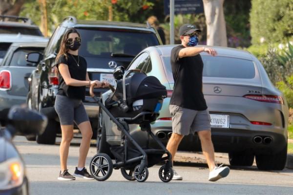 Lea Michele Hot in Black on a walk in Brentwood California HD