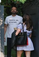 Ana De Armas and Ben Affleck are seen outside their home in Pacific Palisades California