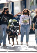 Emily Ratajkowski spotted out with her dog and friends in downtown New York 13