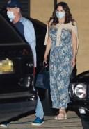 Katharine McPhee Takes her mother to dinner at Nobu in Malibu