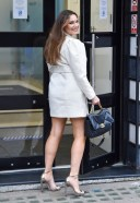 Kelly Brook Pictured arriving at the Global studios for her Heart radio show and leaving Proud Embankment in London 13