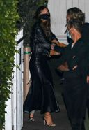 Leonardo DiCaprio and Camila Morrone enjoy a night out with friends at Giorgio Baldi