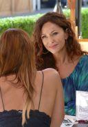 Sofia Milos Seen Enjoying Lunch With Female Friend