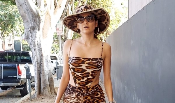Blanca Blanco rocks an animal print outfit as she heads to Bossa Nova for dinner
