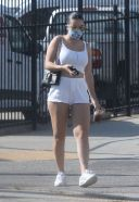 Charlie XCX puts on a leggy display while out for lunch with friends