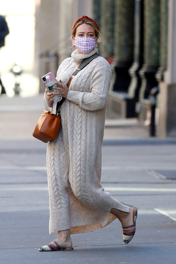Hilary Duff is spotted out and about in New York City