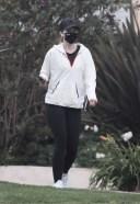 Katherine Schwarzenegger goes for a vigorous walk in Santa Monica