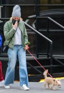 Naomi Watts Takes a stroll with her kids and family dog in Tribeca